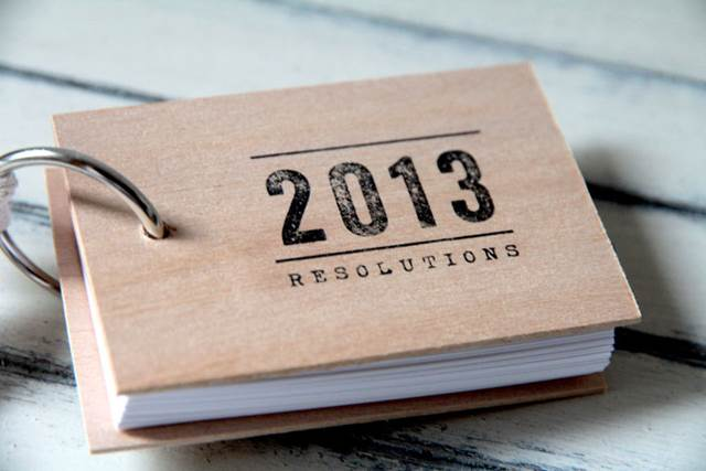 2013 Resolutions Notebook