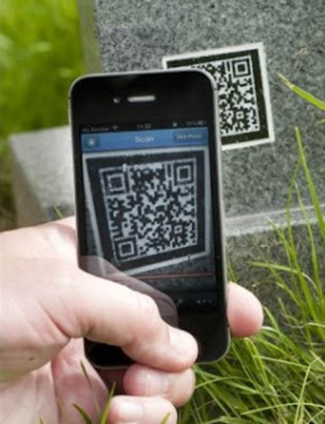 Mobile Scanning QR Codes For Funeral Directory