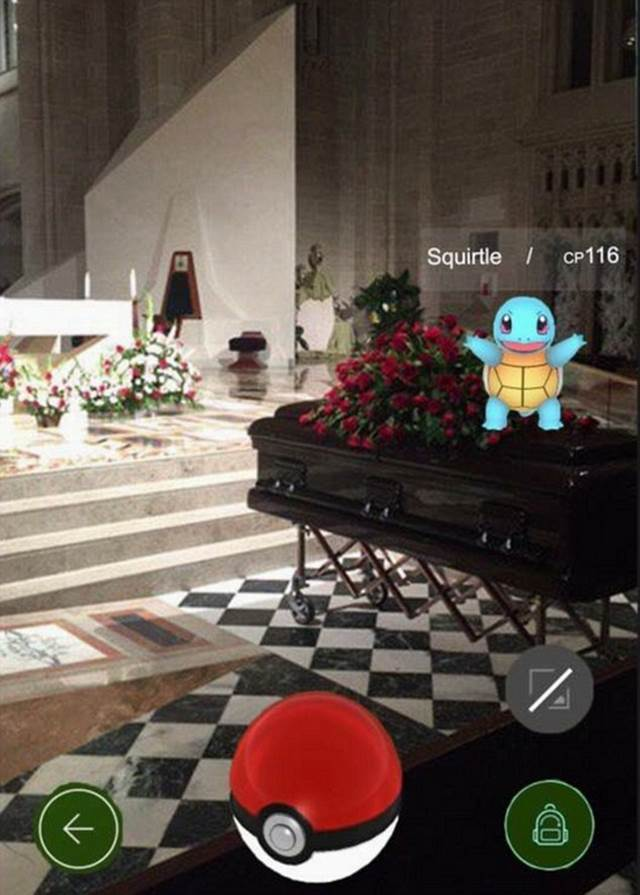 Playing Pokémon Go At Funerals