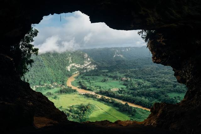 Landscape From A Cave