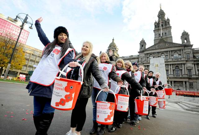Golden Charter Poppy Appeal In George Square