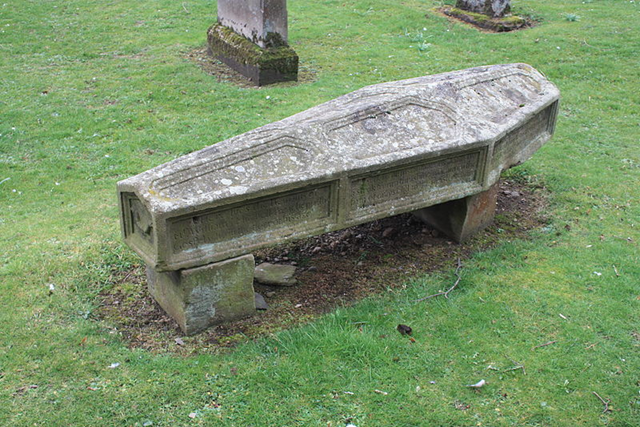 Old Stone Coffin Burial