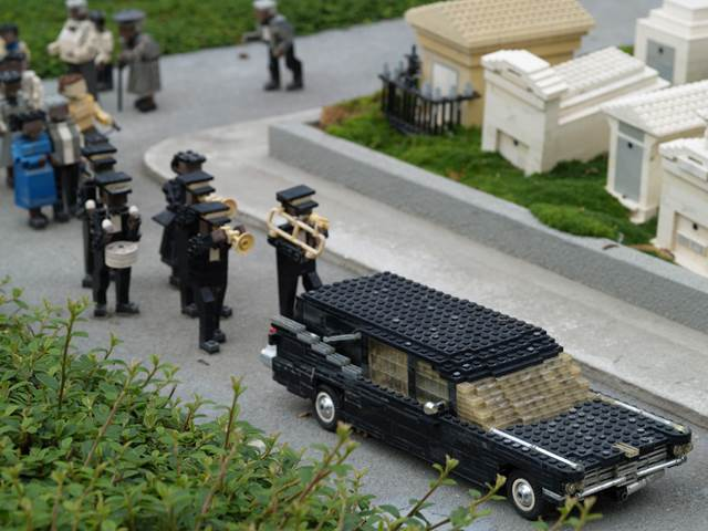 Lego Funeral Display