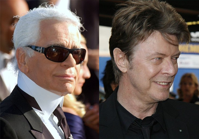 David Bowie Kael Lagerfeld Celebrity Cremation